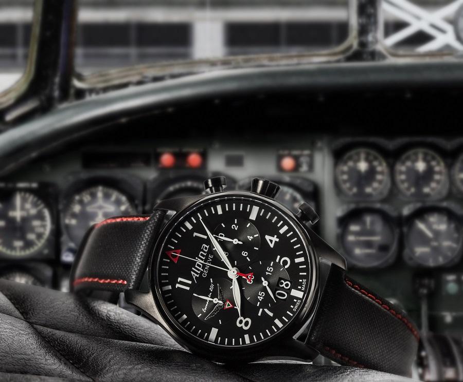 Startimer Pilot Chronograph Big Date « Escuadrón 201 » Alpina