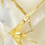 "Lalique bougie ""Océans Edition or"""