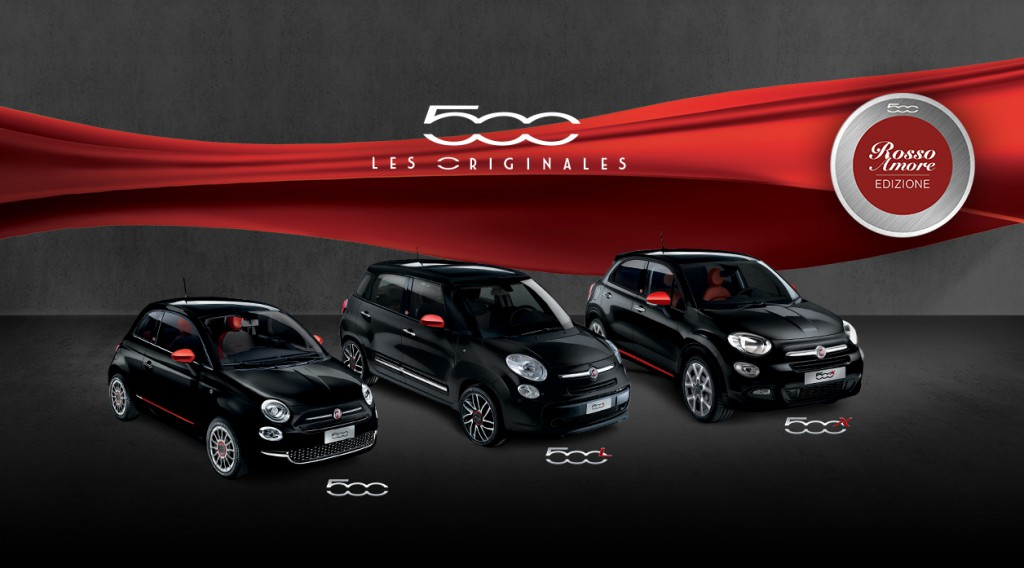 la nouvelle fiat 500 en s ries limit s rosso amore edizione. Black Bedroom Furniture Sets. Home Design Ideas