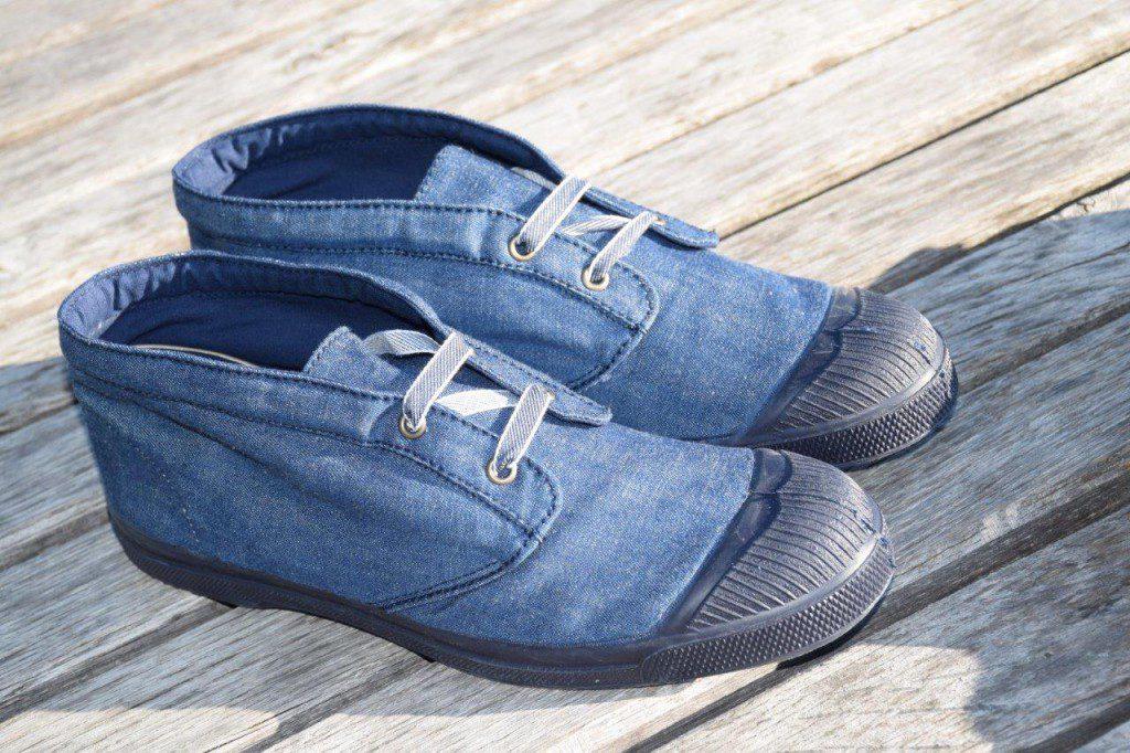 JagVi x Bensimon Edition limitée, chaussures bleu et noir