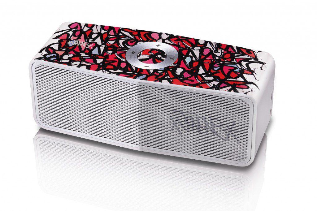 LG x JonOne Enceintes Portable P5 Rouge et rose