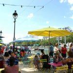 La terrasse de La Ginguette Solidaire du Café A et de Tous à Table