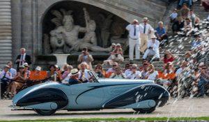 Delahaye 135M cabriolet Figoni et Falaschi de 1937 - Chantilly 2014