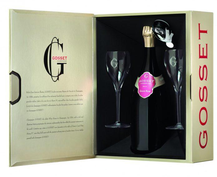 Coffret Saint-Valentin Champagne GOSSET Grand Rosé (75 cl)