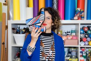 Portrait Camille Walala capsule Made by Sarenza