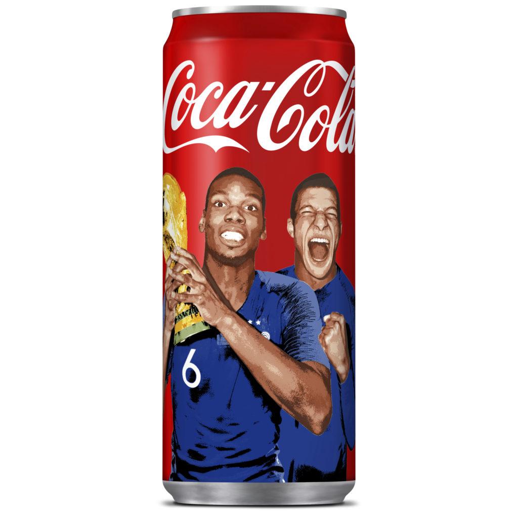 canette-coca-cola-mbappé-pogba-équipe-de-france-champion du monde 2018