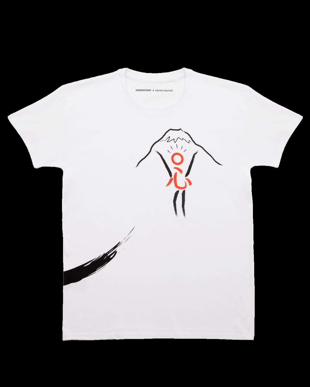 collection entière avec les trois tee-shirt Fauve Hautot X Bridgestone