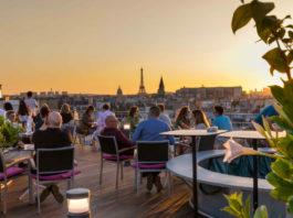 rooftop Paris coucher de soleil