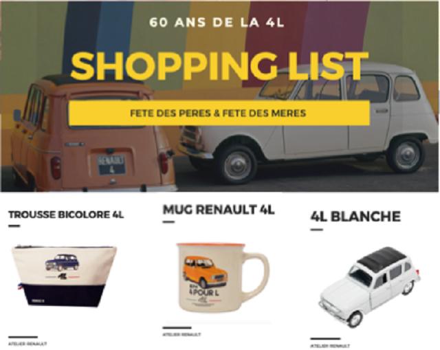 Shopping list enault 4L