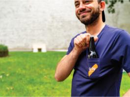 bière dans tee-shirt L.B.F X Olow